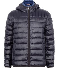 parka tommy hilfiger azul - calce regular