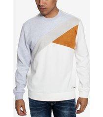 sean john color texture blocked men's sweatshirt