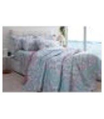 jogo de cama solteiro 150 fios attuale skyler/acquacorttex
