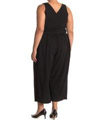 plus size women's rachel roy collection convertible tie jumpsuit, size 2x - black