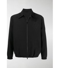 fendi fade effect monogram zip-up jacket