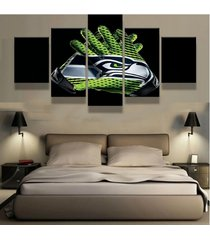5 pcs seattle seahawks gloves canvas prints painting wall art picture home decor