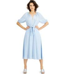 alfani tie-front midi dress, created for macy's