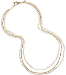 miriam haskell new york imitation pearl bead layered long necklace