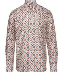 retro geometric print shirt skjorta casual multi/mönstrad eton