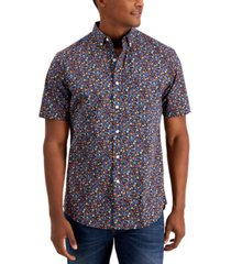 club room men's floral-print cotton shirt, created for macy's