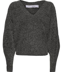 wildy stickad tröja grå iro