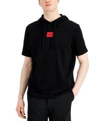 hugo men's dresley short-sleeve logo hoodie