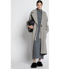 proenza schouler doubleface cashmere convertible coat grey melange 8