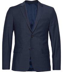 bi-stretch houndstooth blazer blazer colbert blauw calvin klein