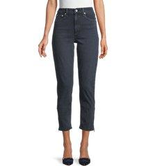 rag & bone women's nina high-rise ankle cigarette jeans - black - size 24 (0)