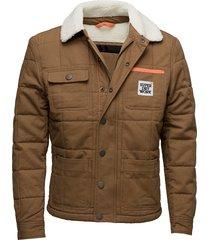 redford jacket kviltad jacka creme superdry