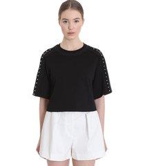 3.1 phillip lim t-shirt in black cotton