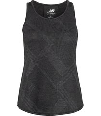 q speed fuel jacquard tank t-shirts & tops sleeveless svart new balance