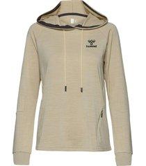 hmlselby hoodie sweat-shirt tröja beige hummel