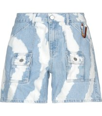 ganni denim shorts