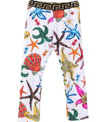 versace young print trousers