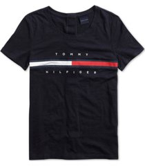 tommy hilfiger adaptive women's logo top with velcro closure at back