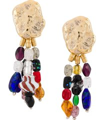 ambush nobo bead short earring - gold