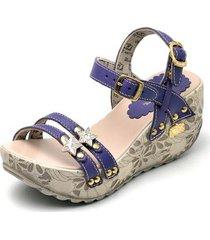 sandalia top franca shoes betina beker plataforma anabela feminina