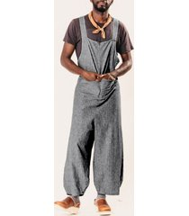liguero suelto casual anudado a la moda para hombre mono overol pantalones