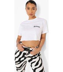 kort baddie t-shirt, white