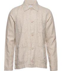 pine linen overshirt - vegan overshirt beige knowledge cotton apparel