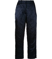 sies marjan crinkle effect straight trousers - blue
