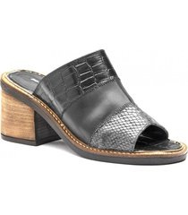 sandalia de cuero negro albany