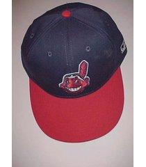 cleveland indians chief wahoo logo mlb oc sports blue baseball cap one size new