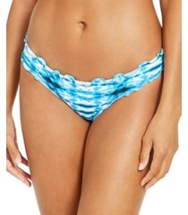 sundazed tied and true printed mermaid cheeky bottoms, created for macy's women's swimsuit