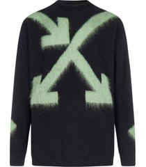 off-white fuzzy arrows wool and mohair sweater