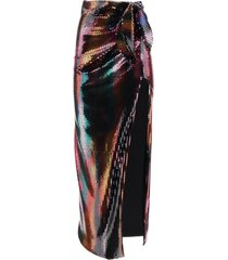 the attico long sequined skirt