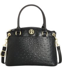 giani bernini faux ostrich mini satchel, created for macy's