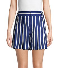 scarlet striped shorts