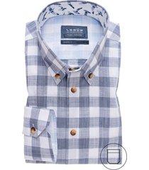overhemd ledub donkerblauw met borstzak