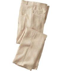 linnen broek in 5-pocket-style, zand 56