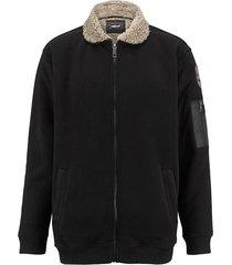 fleece vest men plus zwart