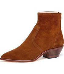 joni low western bootie in cacao