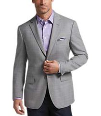 pronto uomo platinum modern fit sport coat light gray plaid