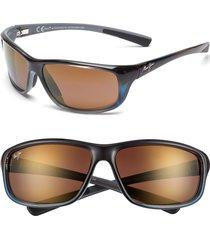 men's maui jim 'spartan reef - polarizedplus2' 64mm sunglasses - marlin/ hcl bronze