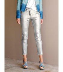 broek amy vermont zilverkleur::wit