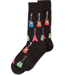 hot sox men's socks, electric guitar crew