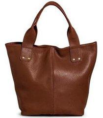 bolsa saco couro belaju lisa botão de imã feminina
