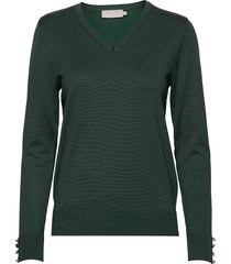pullover-knit light stickad tröja grön brandtex