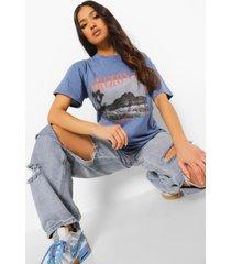petite oversized arizona t-shirt, indigo