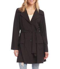 women's karen kane packable travel jacket, size x-large - black
