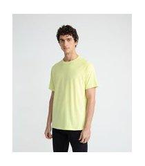 camiseta manga curta em algodão | request | amarelo | gg