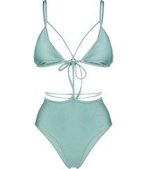 noire swimwear temptation monokini - green