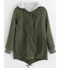 new cotton-padded thicken berber fleece coat frock overcoat